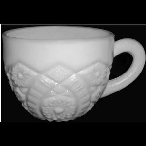 Set 6 Vintage McKee Concord Milk-glass Punch Cup